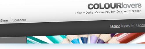 ColourLovers, paletas de colores y patrones de diseño