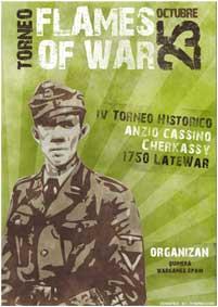 diseño de flyer, diplomas y bases del torneo de flames of war con photoshop e ilustrator