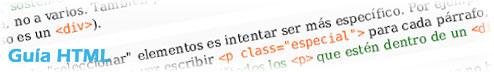guia html, como escribir correctamente en HTML