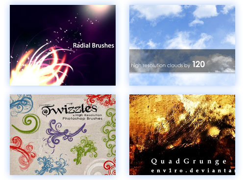 Qbrushes & Qvector, cientos de brushes y recursos gratis para photoshop