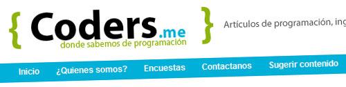 Coders.me, blog sobre programación y desarollo web