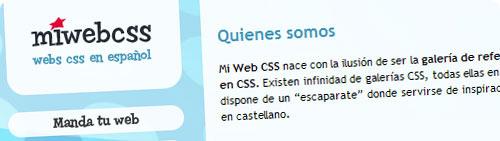 MiWebCSS, galería de páginas web en español en CSS