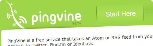 PingVine, envia tweets cada vez que publiques una entrada en tu blog