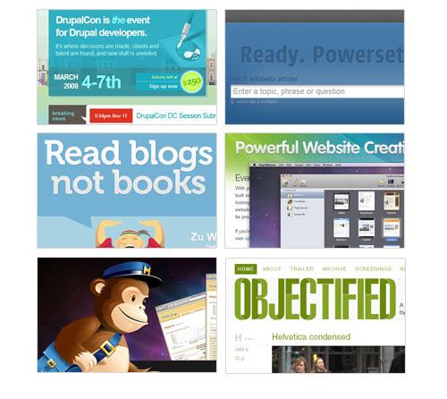 Las 25 tendencias del diseño web durante el 2009