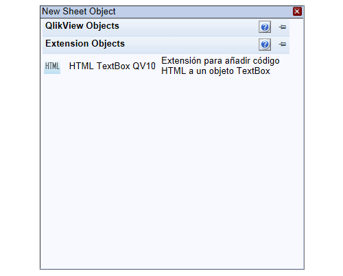 Extension de TextBox que muestra código HTML en QlikView 10
