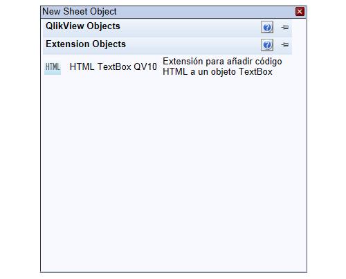 Extension de TextBox que muestra código HTML en QlikView 10