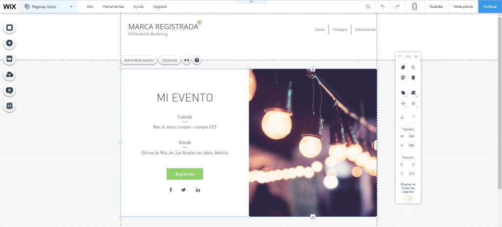 Cómo hacer una página web de eventos